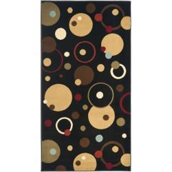 Safavieh Porcello Modern Cosmos Black/ Multi Rug (2' x 3'7)