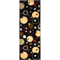 "Safavieh Porcello Modern Cosmos Black/ Multi Runner Rug - 2'4"" x 9'"
