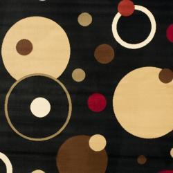 Safavieh Porcello Modern Cosmos Black Rug (4' x 5' 7)