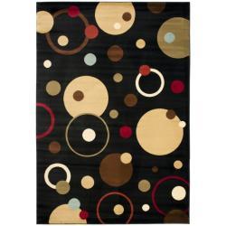 Safavieh Porcello Modern Cosmos Black/ Multi Rug (4' x 5'7)
