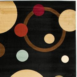 Safavieh Porcello Modern Cosmos Black/ Multi Rug (8' x 11'2) - Thumbnail 1