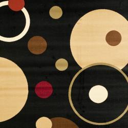 Safavieh Porcello Modern Cosmos Black/ Multi Rug (8' x 11'2) - Thumbnail 2