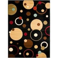 "Safavieh Porcello Modern Cosmos Black/ Multi Rug - 8' x 11'2"""