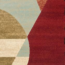 Safavieh Porcello Modern Abstract Multicolored Rug (2'4 x 9') - Thumbnail 2