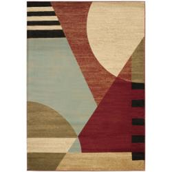 Safavieh Porcello Modern Abstract Multicolored Rug (6'7 x 9'6)