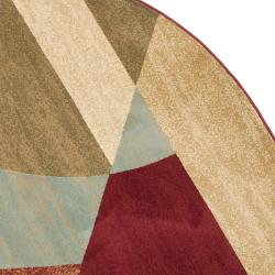 Safavieh Porcello Modern Abstract Multicolored Rug (7' Round) - Thumbnail 1