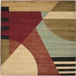 Safavieh Porcello Modern Abstract Multicolored Rug (7' Square)