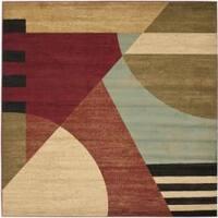 Safavieh Porcello Modern Abstract Multicolored Rug - 7' x 7' Square