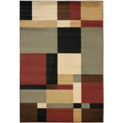 Safavieh Porcello Modern Abstract Multicolored Rug (4' x 5'7)