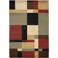 Safavieh Porcello Modern Abstract Multicolored Rug - 4' x 5'7