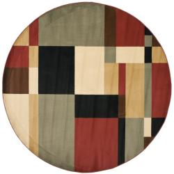 Safavieh Porcello Modern Abstract Multicolored Rug (7' Round)