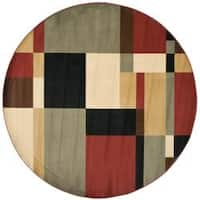 Safavieh Porcello Modern Abstract Multicolored Rug - 7' x 7' Round