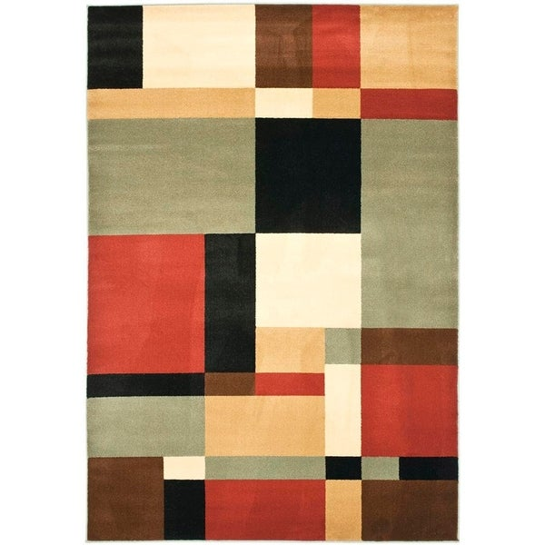 Safavieh Porcello Modern Abstract Multicolored Rug - 8' x 11'2""