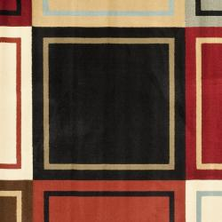 Safavieh Porcello Modern Abstract Multicolored Rug (7' Square) - Thumbnail 2