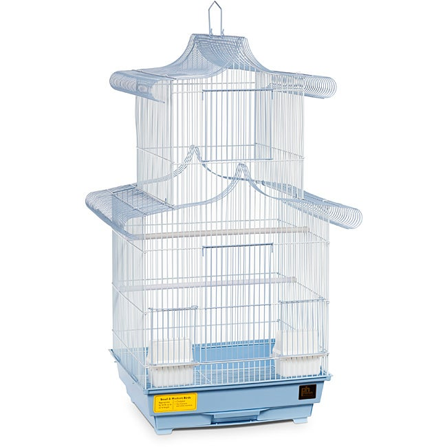 Prevue Pet Products Blue/ White Pagoda Cockatiel Cage