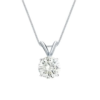 Auriya 14k Gold 1/2ct TDW Diamond Solitaire Necklace