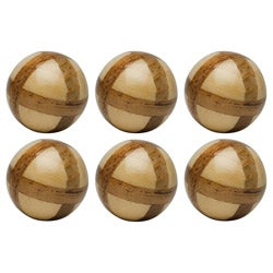 Red Vanilla Nature Sphere Corn Husk 4-inch Ball (Set of 6)