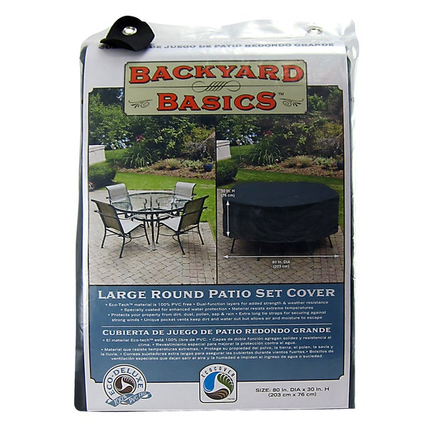 Mr. BBQ Black Round Table and Patio Set Cover