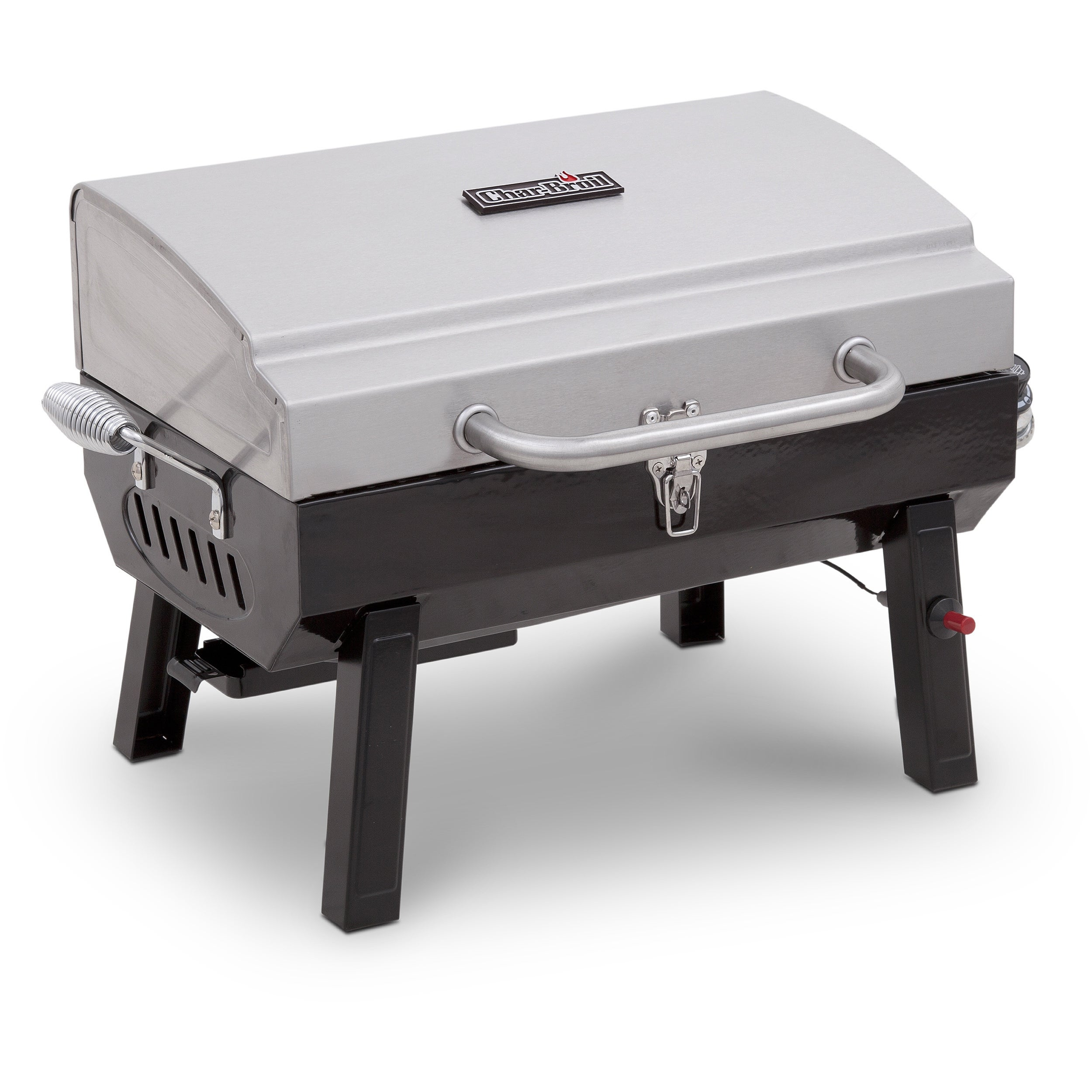 Char-Broil Gas Tabletop Grill, Silver stainless steel