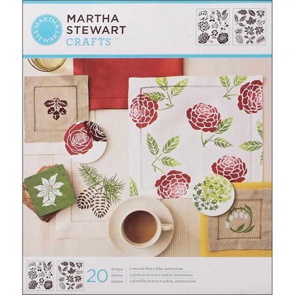 Martha Stewart Four-Seasons Medium Stencil Sheets (Pack of 2)