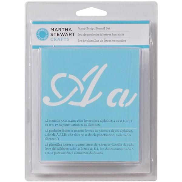Martha Stewart Fancy Script Alphabet Stencils (48 Pack)