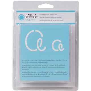 Martha Stewart Looped Script Alphabet Stencil Set (48 Pack)