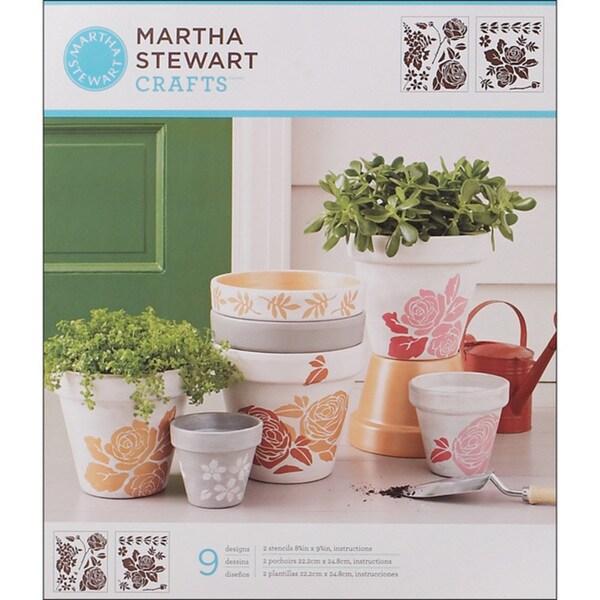 Martha Stewart Rose Garden Medium Stencils (Pack of 2)