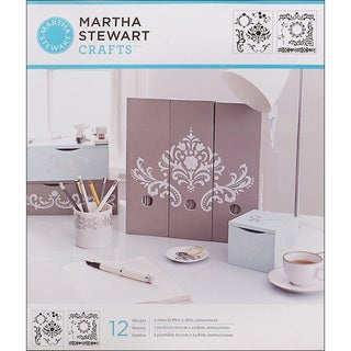 Martha Stewart Flourish Medium Stencils (Pack of 2)