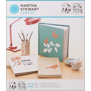 Martha Stewart Birds and Berries Medium Stencils (Pack of 2)