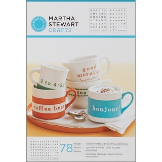 Martha Stewart Typewriter Adhesive Stencils (Pack of 2)