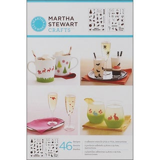 Martha Stewart Adhesive Holiday Icons II Stencils (2 Sheets)