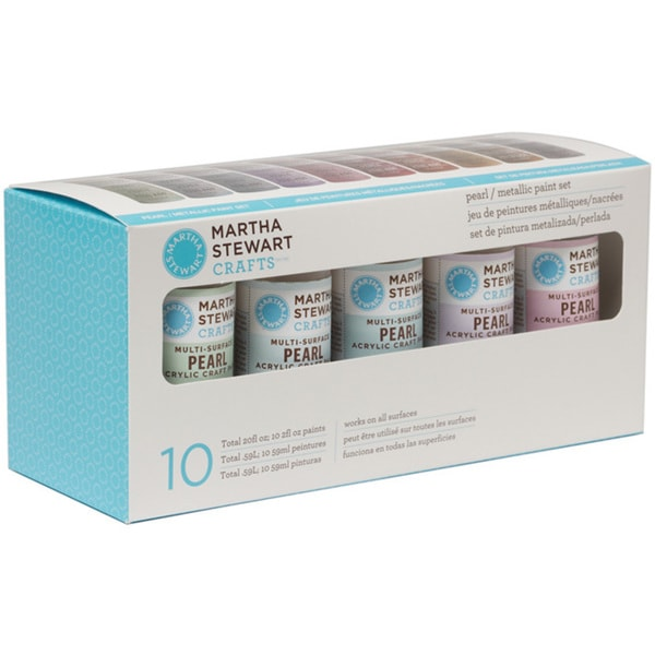 Martha Stewart Pearl and Metallic 10-Color Acrylic Craft Paint Set