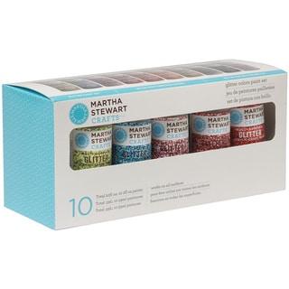 Martha Stewart Glitter 10-Color Acrylic Craft Paint Set