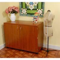 Kangaroo Kabinets 'Dingo' Teak Sewing Machine Table Furniture Storage Cabinet