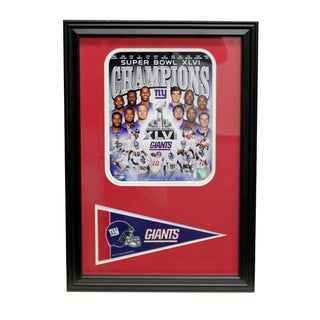 Super Bowl XLVI Champion New York Giants Pennant Frame