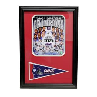 Super Bowl XLVI Champion New York Giants Pennant Frame
