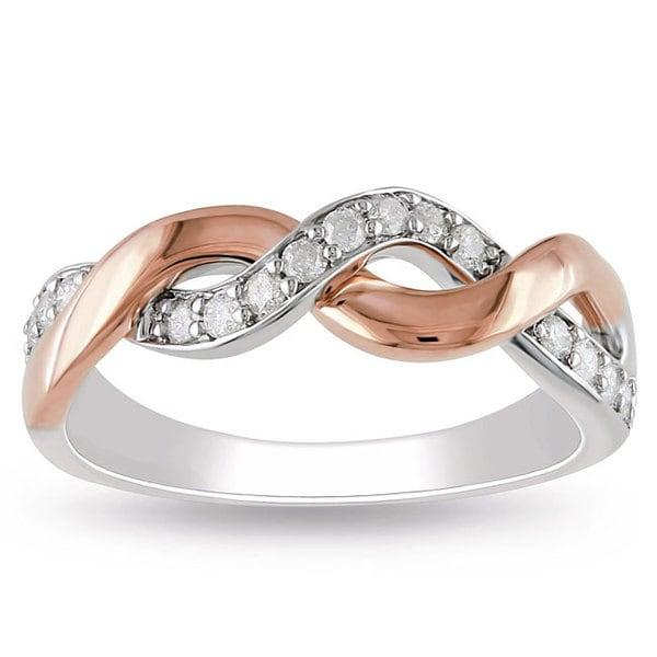 Miadora 10k Two-tone Gold 1/4ct TDW Diamond Ring