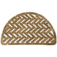 Rubber-Cal 'Caspian Sea' Outdoor Coconut Coir Door Mat (18 x 30)