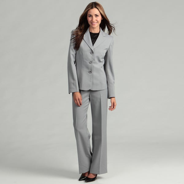Cool Elegant Grey 2015 Autumn Winter Business Women Suits Jackets And Pants