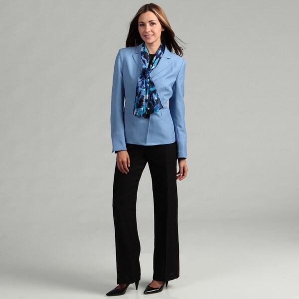Le Suit Women's Three-button Pant Suit
