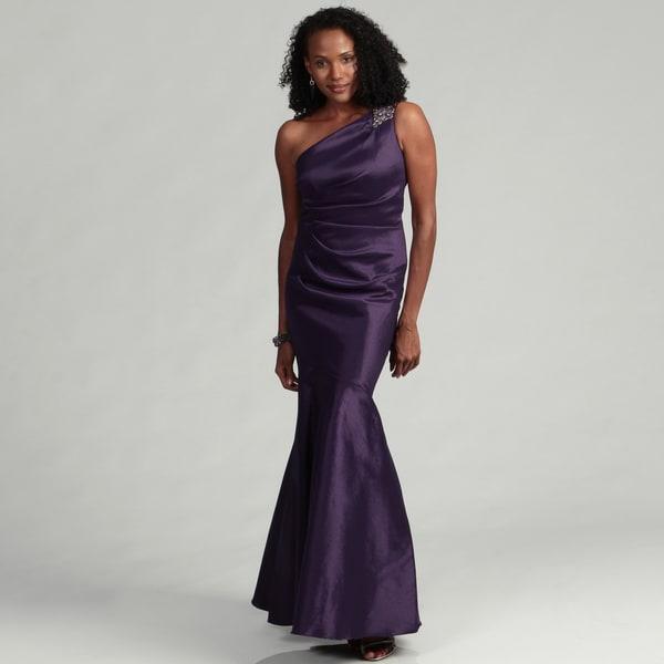 Eliza J Women's One Shoulder Trumpet Hem Dress