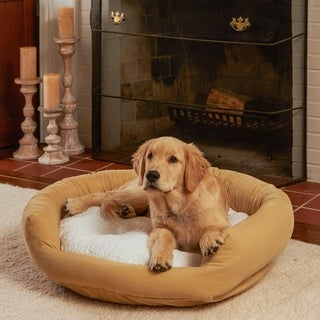 Moxy Beige Donut Dog Bed