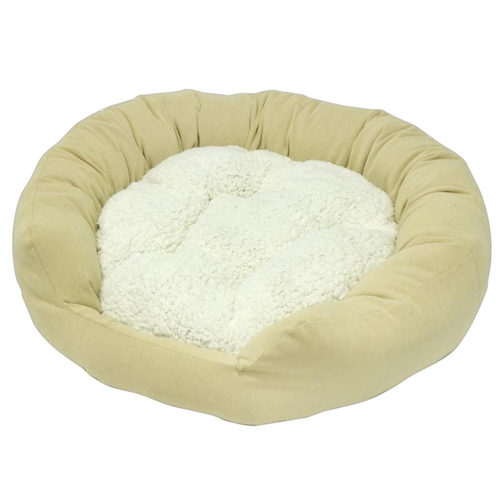 Moxy Medium Beige Donut Dog Bed