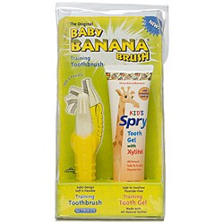 Baby Banana Spry Tooth Gel and Toothbrush Combo Pack
