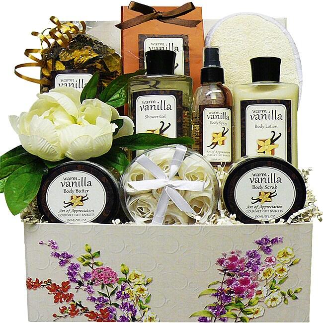 Art De' Moi Warm Vanilla Spa Bath and Body Care Package Gift Box Set