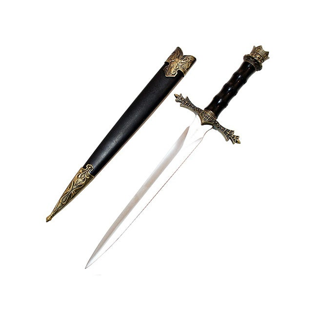 Defender 14-inch Collectible Sword Dagger with Sheath - Thumbnail 0