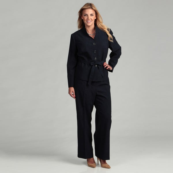 Shop Evan Picone Women S Plus Size Pant Suit Free Shipping Today