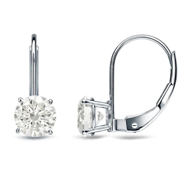 Auriya 14k Gold 1/2ct TDW Diamond Dangle Earrings