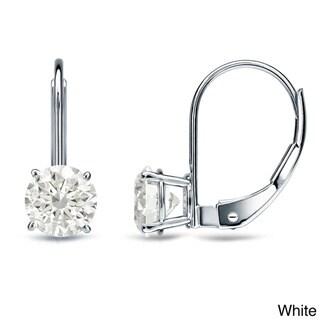 Auriya 14k Gold 1/2ct TDW Diamond Leverback Dangle Earrings (K-L, I2)