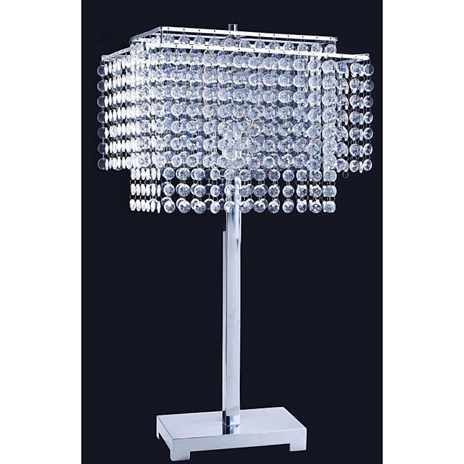 28-inch Crystal Strings Table Lamp